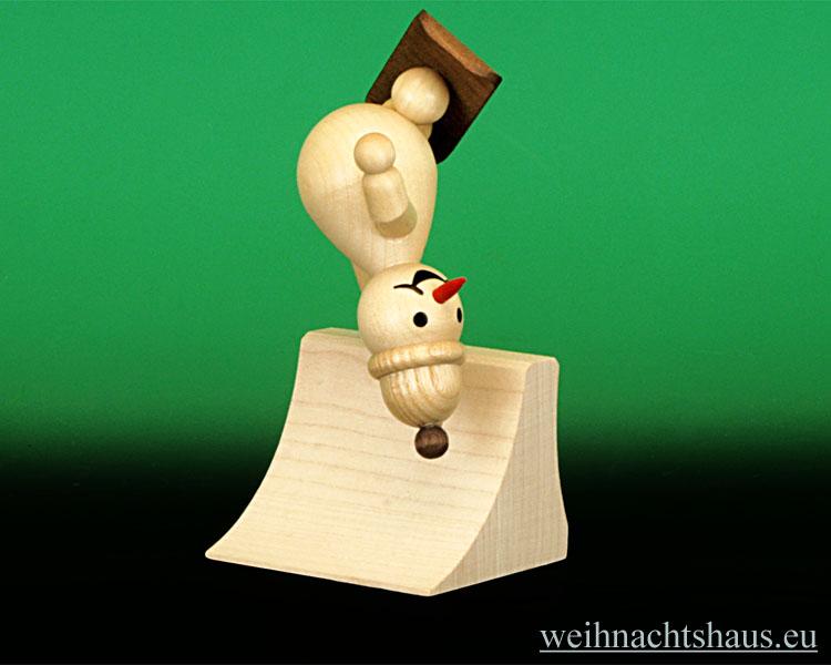 Seiffen Weihnachtshaus - Kugelschneemann Snowboard Freestyle fliegend NEU 2012 - Bild 1
