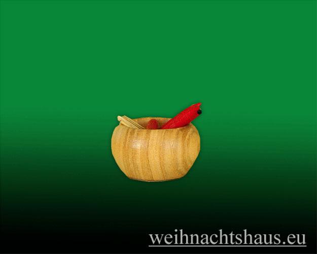 Seiffen Weihnachtshaus - Möhrenschale zur Schneemannserie - Bild 1