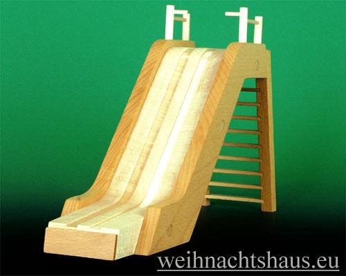 Seiffen Weihnachtshaus - Kugelschneemann Schanze Sprungschanze aus Holz - Bild 1