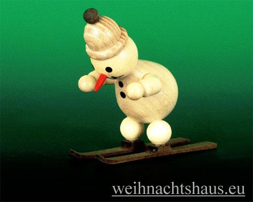 Seiffen Weihnachtshaus - Kugelschneemann Schanze Schneemann am Start - Bild 1