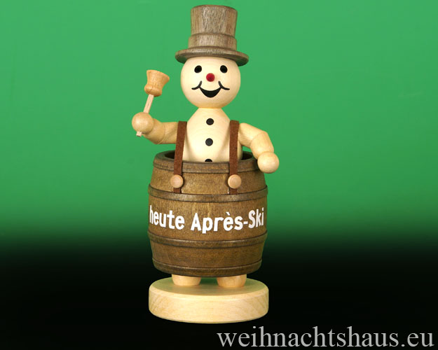 Seiffen Weihnachtshaus - .     Kugelschneemann im Party-Faß Neuheit 2018 - Bild 1
