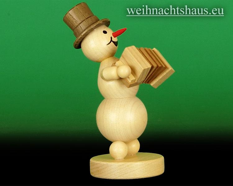 Seiffen Weihnachtshaus - .Kugelschneemann Musikant  Akkordeon NEU 2014 - Bild 2
