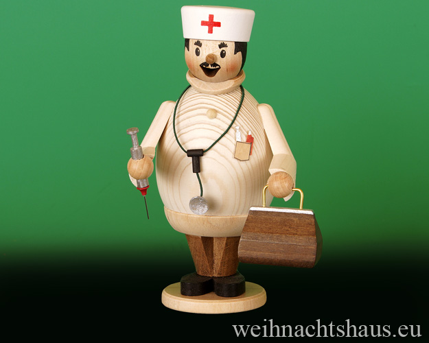 Seiffen Weihnachtshaus - <!--11-->Räuchermann Max  der Arzt - Bild 1