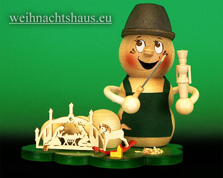 Seiffen Weihnachtshaus - <!--11-->Räuchermann Räucherwurm  Erzgebirge Holzkunst-Rudi - Bild 1