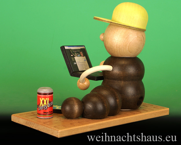 Seiffen Weihnachtshaus - <!--11-->Räuchermann Räucherwurm Erzgebirge Computerwurm - Bild 2
