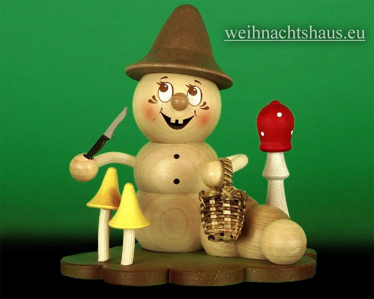 Seiffen Weihnachtshaus - <!--11-->Räuchermann Räucherwurm Erzgebirge Pilz Rudi - Bild 1