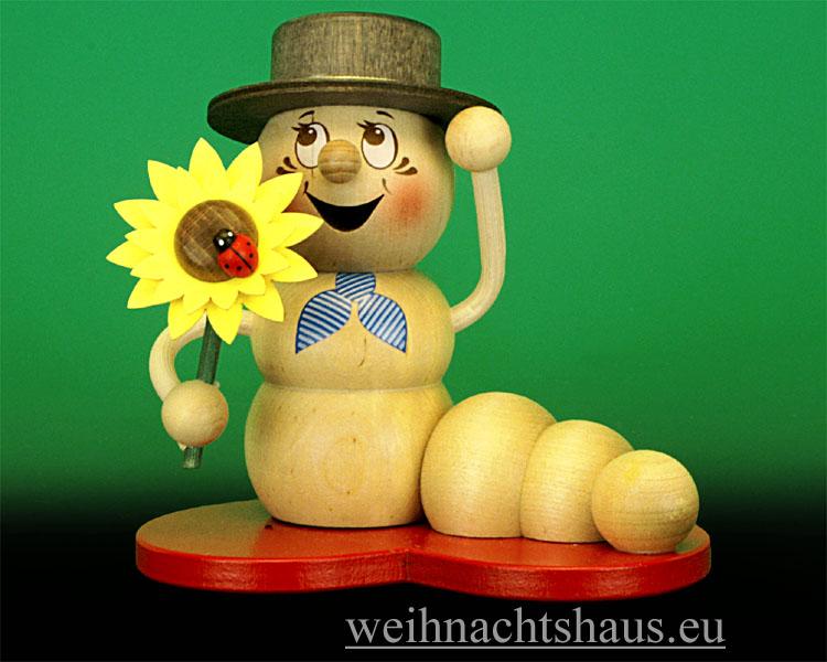 Seiffen Weihnachtshaus - <!--11-->Räuchermann Räucherwurm Erzgebirge Herz-Rudi - Bild 1