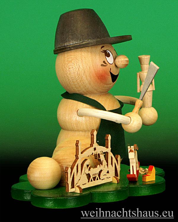 Seiffen Weihnachtshaus - <!--11-->Räuchermann Räucherwurm  Erzgebirge Holzkunst-Rudi - Bild 2