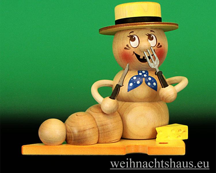 Seiffen Weihnachtshaus - <!--11-->Räuchermann Räucherwurm Erzgebirge Käse-Rudi - Bild 1