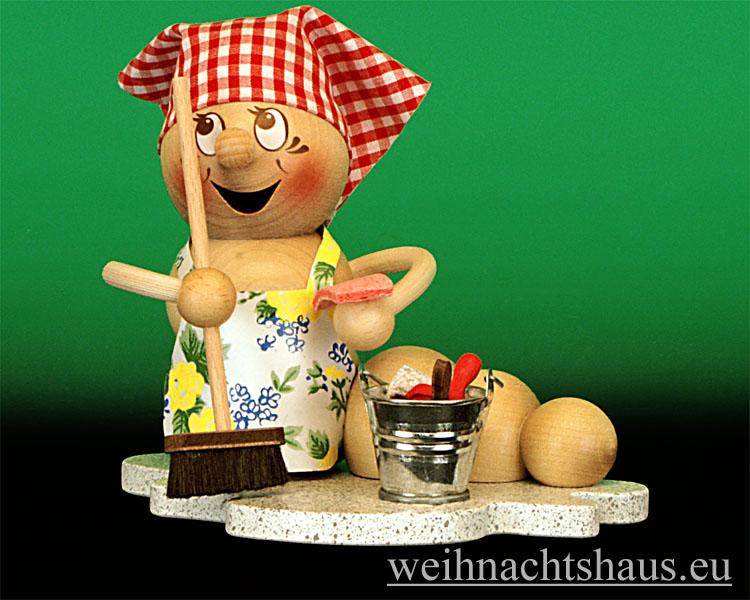 Seiffen Weihnachtshaus - <!--11-->Räucherfrau Räucherwurm Erzgebirge  Putzwurm-Rosi - Bild 1