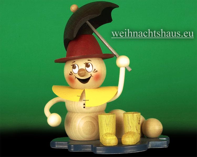 Seiffen Weihnachtshaus - <!--11-->Räuchermann Räucherwurm Erzgebirge Regenwurm - Bild 1