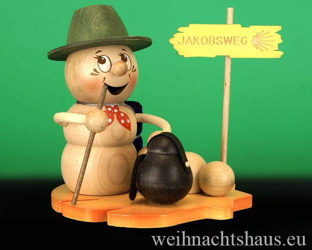 Seiffen Weihnachtshaus - <!--11-->Räuchermann Räucherwurm Erzgebirge Wanderwurm - Bild 1