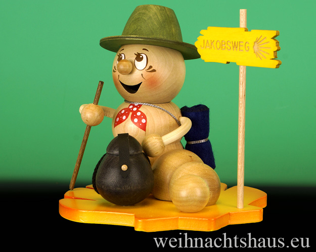 Seiffen Weihnachtshaus - <!--11-->Räuchermann Räucherwurm Erzgebirge Wanderwurm - Bild 2