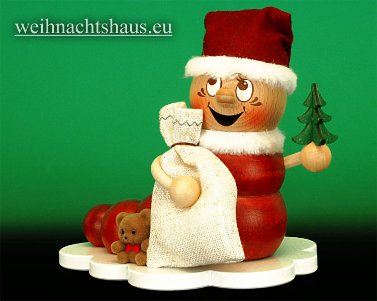Seiffen Weihnachtshaus - <!--11-->Räuchermann Räucherwurm Erzgebirge Weihnachtswurm -Rudi - Bild 1
