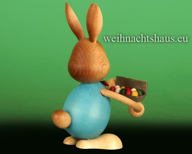 Seiffen Weihnachtshaus - Stupsi        Osterhase- Kuhnert  mit Eierschachtel Neu 2020 - Bild 2