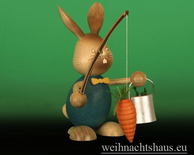 Seiffen Weihnachtshaus - Stupsi   Osterhase Möhrenangler Neu 2015 - Bild 2