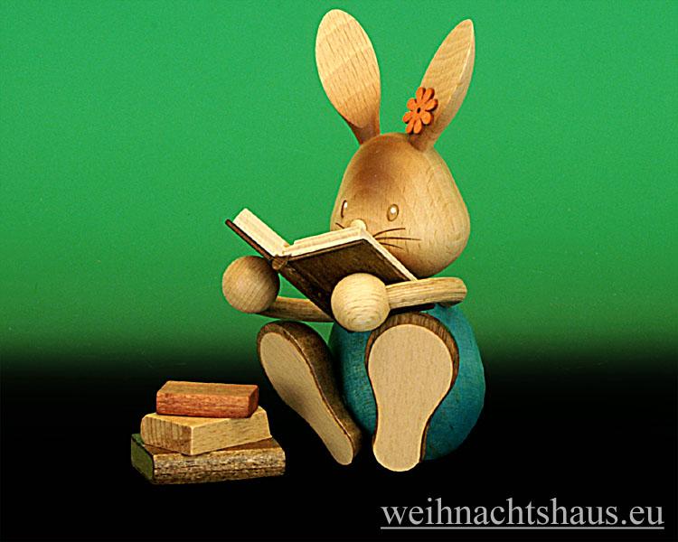Seiffen Weihnachtshaus - Stupsi mit Büchern - Bild 1