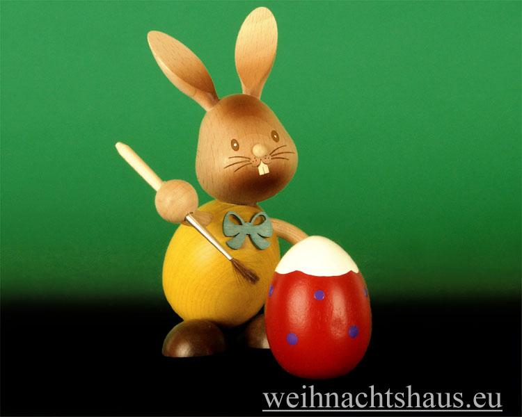 Seiffen Weihnachtshaus - Stupsi  der Eiermaler Kuhnert Hase - Bild 2