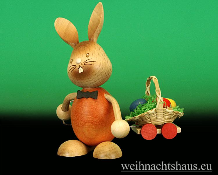 Seiffen Weihnachtshaus - Stupsi mit Eierwagen - Bild 1