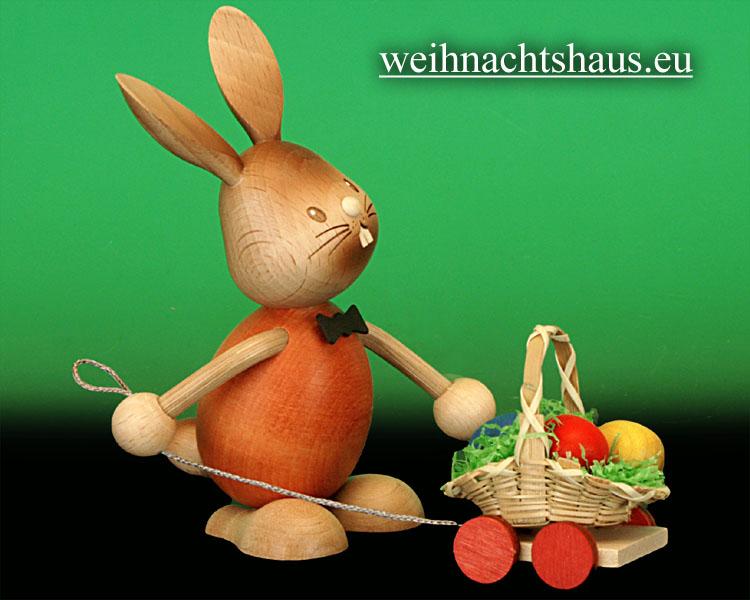 Seiffen Weihnachtshaus - Stupsi mit Eierwagen - Bild 2