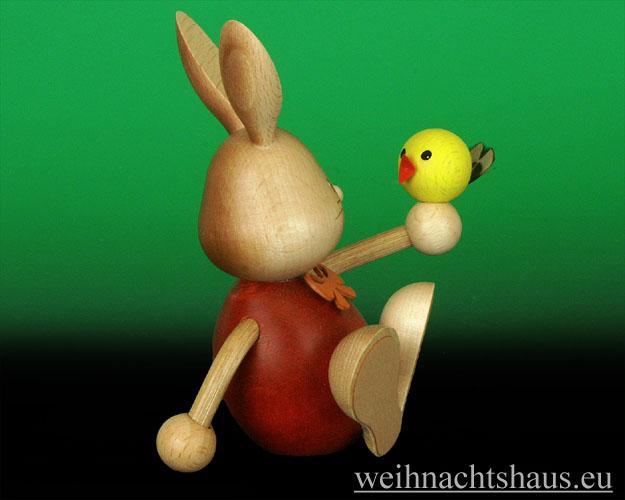 Seiffen Weihnachtshaus - Stupsi der Hase mit Küken - Bild 2
