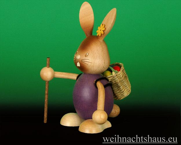 Seiffen Weihnachtshaus - Stupsi der Hase als Wanderer - Bild 1