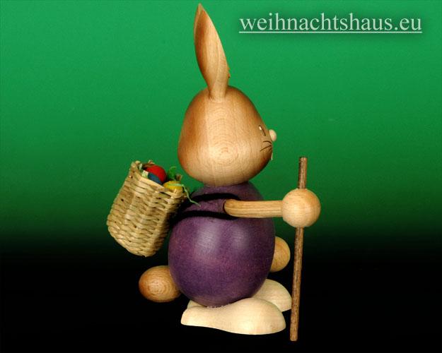 Seiffen Weihnachtshaus - Stupsi der Hase als Wanderer - Bild 2