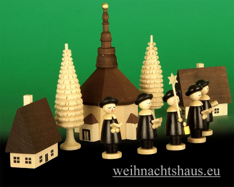 Seiffen Weihnachtshaus - Seiffener-Kirche mit Kurrende Erzgebirge dunkel 10tlg - Bild 2