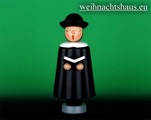 Seiffen Weihnachtshaus - Kurrendesänger 20cm schwarz mit Buch - Bild 1