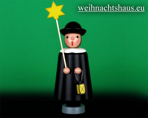 Seiffen Weihnachtshaus - Kurrendesänger 20cm schwarz mit Stern - Bild 1