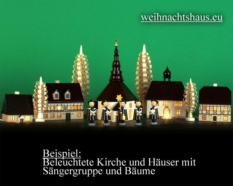Seiffen Weihnachtshaus - Fachwerkhaus zum Beleuchten 7 cm dunkel - Bild 2