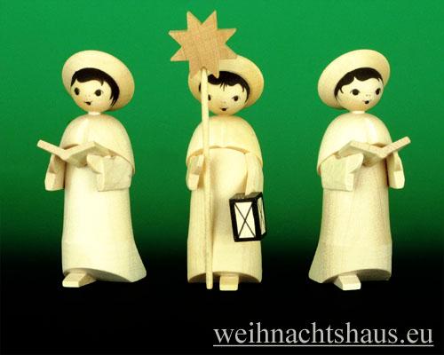 Seiffen Weihnachtshaus - Kurrendesänger natur mit Buch - Bild 2