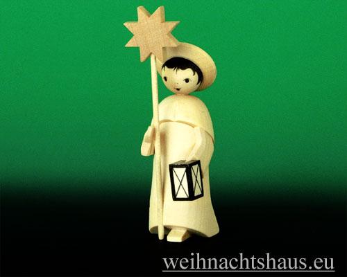 Seiffen Weihnachtshaus - Kurrendesänger natur mit Stern - Bild 1
