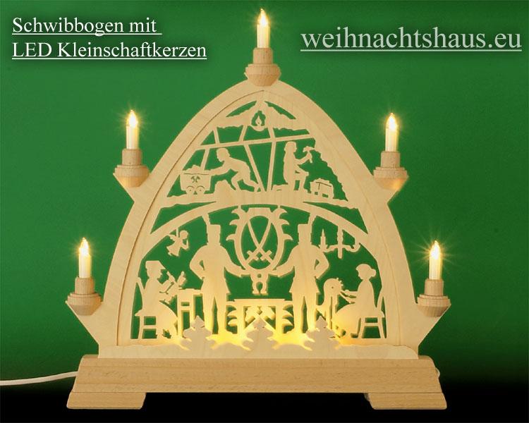 Seiffen Weihnachtshaus - Kleinschaftkerze  LED Lampe E10 für Schwibbögen und Lichterketten - Bild 2