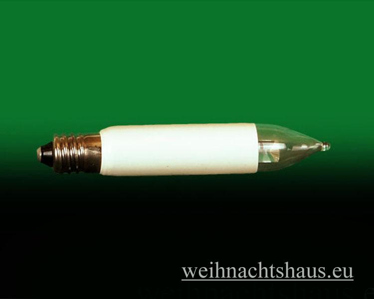 Seiffen Weihnachtshaus - Kleinschaftkerze  LED Lampe E10 für Schwibbögen und Lichterketten - Bild 1