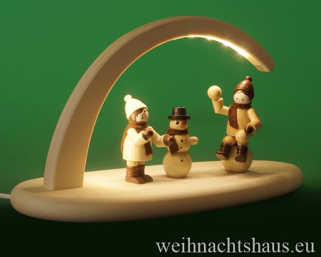 Seiffen Weihnachtshaus - Schwibbogen modern ohne Figuren leer 24cm (LED Schwibbogen) - Bild 3