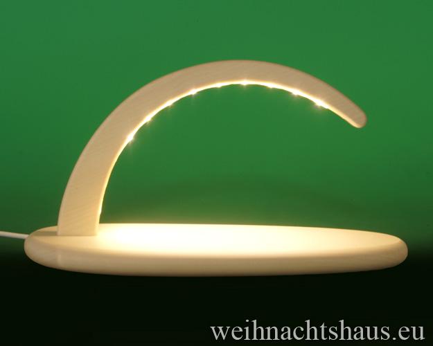 Seiffen Weihnachtshaus - Schwibbogen modern ohne Figuren leer 24cm (LED Schwibbogen) - Bild 1