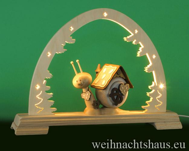 Seiffen Weihnachtshaus - Schwibbogen  ohne Figuren leer 48cm LED - Bild 3