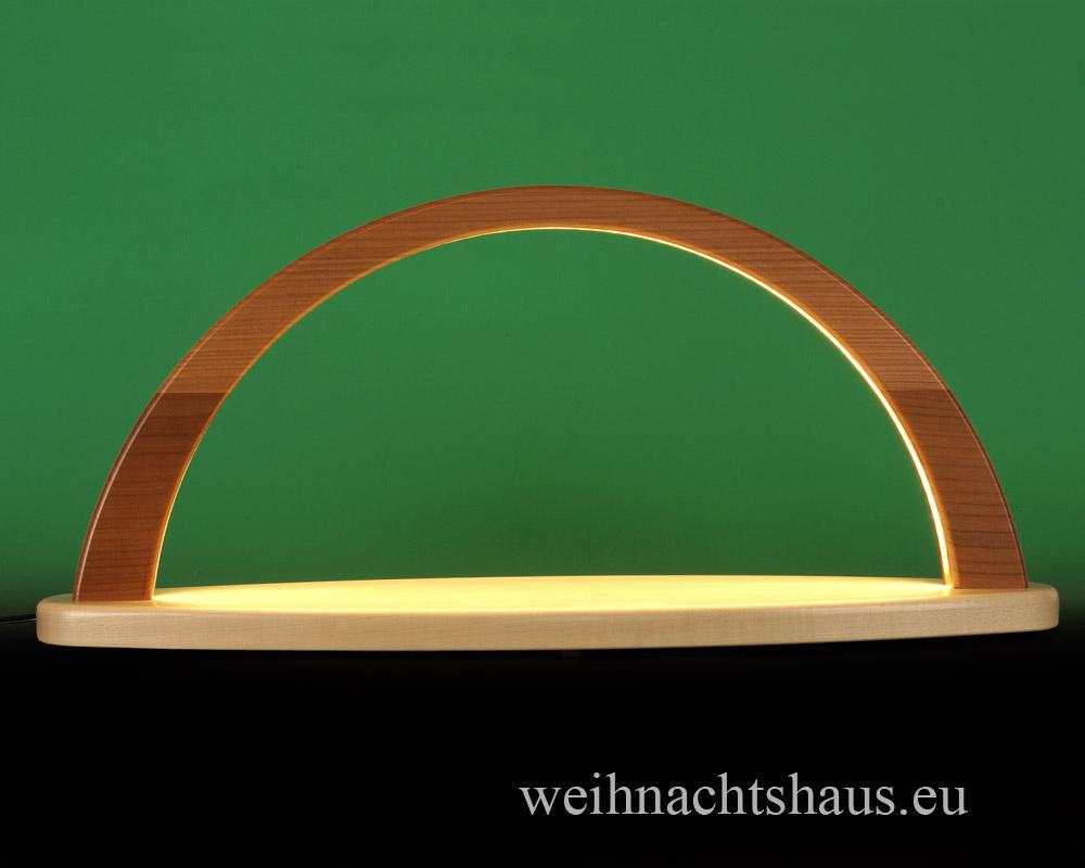 Seiffen Weihnachtshaus - Schwibbogen modern ohne Figuren leer 51cm (LED Schwibbogen) - Bild 1
