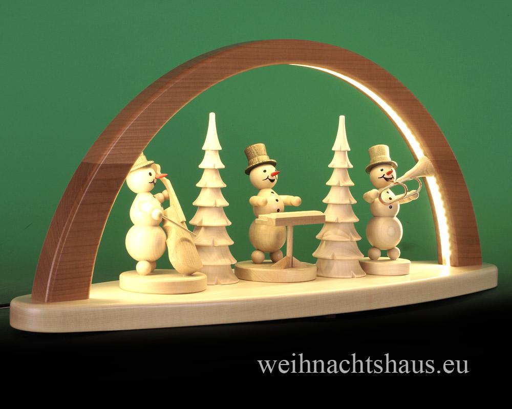 Seiffen Weihnachtshaus - Schwibbogen modern ohne Figuren leer 51cm (LED Schwibbogen) - Bild 3