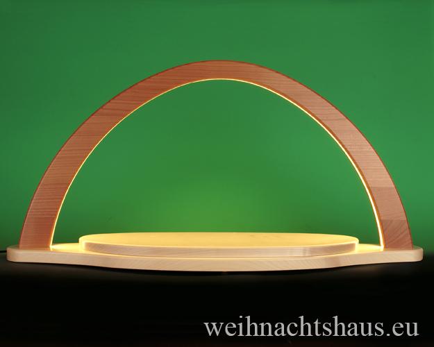 Schwibbogen modern groß LED ohne Figuren moderne Lichterbögen unbestückt zum selbst bestücken Holzschwibbogen Erzgebirgsbogen