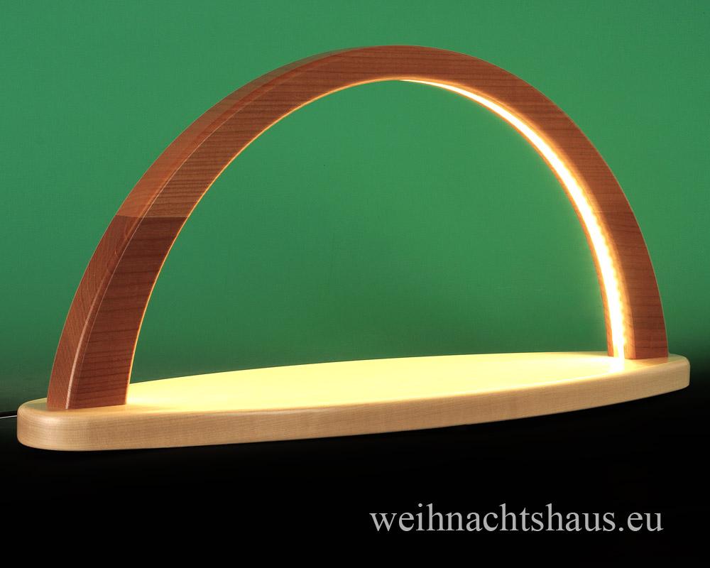 Seiffen Weihnachtshaus - Schwibbogen modern ohne Figuren leer 51cm (LED Schwibbogen) - Bild 2