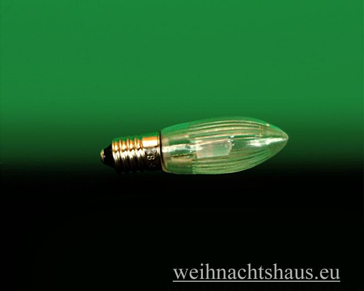 Seiffen Weihnachtshaus - Spitzkerze  LED 34 Volt Lampe E10 für Schwibbögen und Lichterketten - Bild 1