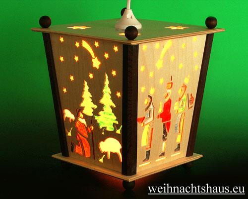 Seiffen Weihnachtshaus - Hängelaterne 4 seitig groß Geburt - Bild 2