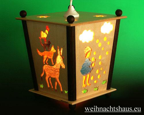 Seiffen Weihnachtshaus - Hängelaterne 4 seitig groß Märchen - Bild 1