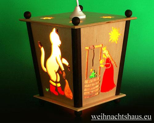 Seiffen Weihnachtshaus - Hängelaterne 4 seitig groß Märchen - Bild 2
