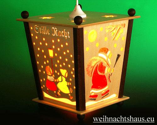 Seiffen Weihnachtshaus - Hängelaterne 4 seitig groß Weihnachtsmann - Bild 1