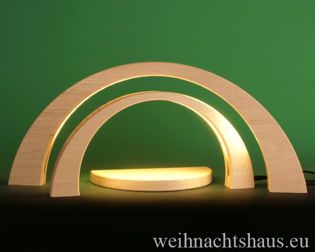 Seiffen Weihnachtshaus - Schwibbogen modern LED ohne Figuren 3 teilig - Bild 1