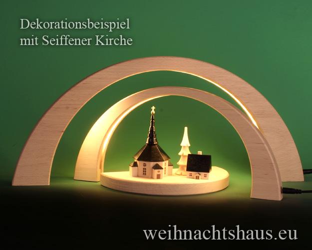 Seiffen Weihnachtshaus - Schwibbogen modern LED ohne Figuren 3 teilig - Bild 3