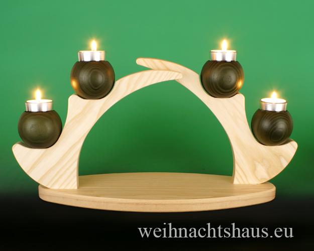 Weihnachtsdekoration Kerzenständer Holz Teelicht Dekoration für Weihnachten Holzdekoration Deko  Ständer für Kerzen Erzgebirge Holzständer Schwibbogen  ohne Figuren leer Teelichte Dekoschwibbogen